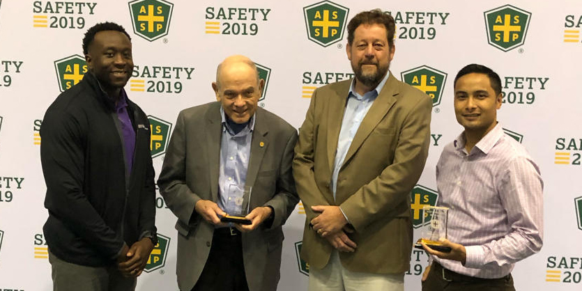 Accepting the ASSP Gold Award at The 2019 National Safety Conference